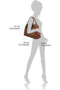Δερμάτινη Τσάντα Χειρός Zaira Firenze Leather 68153 Μπεζ