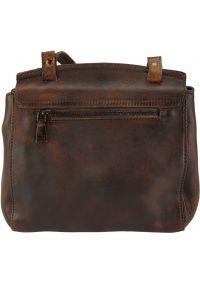 Δερματινη Τσαντα Ταχυδρομου Livio Firenze Leather 68065 Σκουρο Καφε