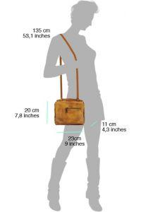 Δερματινη Τσαντα Ταχυδρομου Livio Firenze Leather 68065 Μπεζ