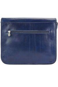 Δερματινη Τσαντα Ταχυδρομου Palmira Firenze Leather 7605 Σκουρο Μπλε