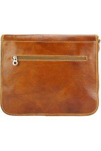 Δερματινη Τσαντα Ταχυδρομου Palmira Firenze Leather 7605 Μπεζ