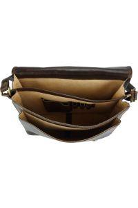 Δερματινη Τσαντα Ταχυδρομου Palmira Firenze Leather 7605 Σκουρο Καφε