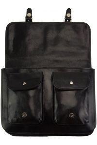 Δερματινη Τσαντα Ταχυδρομου Pamela Firenze Leather 7609 Μαύρο