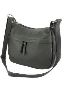 Δερμάτινη Τσάντα Ωμου Delizia Firenze Leather 9112 Σκουρο Γκρι