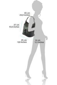 Δερμάτινη Τσάντα Χειρός Letizia Firenze Leather 9109 Μαύρο