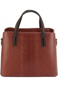 Δερμάτινη Τσάντα Χειρός Vanessa Firenze Leather 7005 Σκουρο Κόκκινο