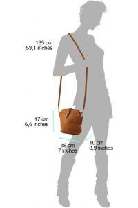 Δερματινο Τσαντακι Ωμου Clara Firenze Leather 402 Μαύρο