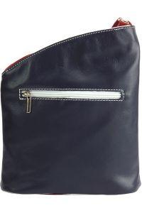 Δερματινη Τσαντα Ωμου Miriam Firenze Leather 407 Μπλε/Λευκο/Κόκκινο