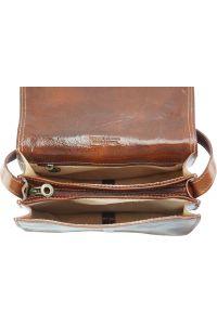 Δερμάτινη Τσάντα Ωμου Ines Firenze Leather 6568 Καφε