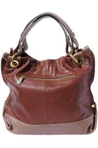 Δερμάτινη Τσάντα Χειρός Alice Firenze Leather 8005 Καφε