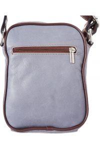 Ανδρικο Δερματινο Τσαντακι Ωμου Firenze Leather B032 Γκρι/Καφε