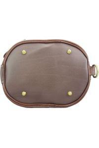 Γυναικεια Δερματινη Τσαντα Ωμου Caterina Firenze Leather 300 Καφε