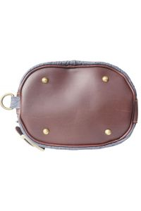 Δερμάτινη Τσάντα Ωμου Caterina Firenze Leather 300S Γκρι/Καφε