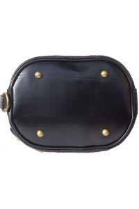 Δερμάτινη Τσάντα Ωμου Caterina Firenze Leather 300S Μαύρο