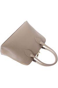 Δερμάτινη Τσάντα Χειρός Giulia Firenze Leather 304 Μπεζ/Γκρι