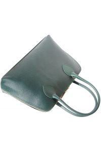 Δερμάτινη Τσάντα Χειρός Giulia Firenze Leather 304 Σκουρο Πρασινο