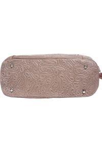 Δερμάτινη Τσαντα Ωμου Lisa Firenze Leather 3016s Σκουρο Μπεζ/Καφε