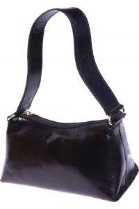 Δερμάτινη Τσάντα Ωμου Priscilla Firenze Leather 6504 Μαύρο