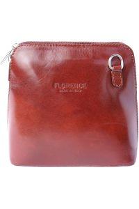 Δερματινο Τσαντακι Ωμου Dalida Firenze Leather 201 Καφε