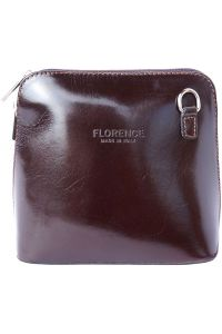 Δερματινο Τσαντακι Ωμου Dalida Firenze Leather 201 Σκουρο Καφε