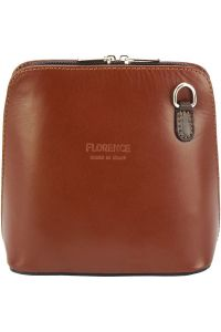 Δερματινο Τσαντακι Ωμου Dalida Firenze Leather 201 Καφε/Σκουρο Καφε