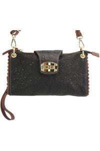 Τσαντακι Clutch Δερματινο Be Exclusive Firenze Leather 8611S Μαύρο/Καφε