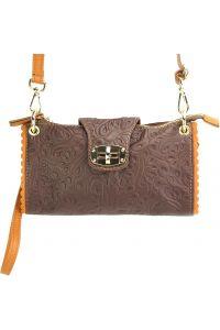 Τσαντακι Clutch Δερματινο Be Exclusive Firenze Leather 8611S Καφε/Μπεζ