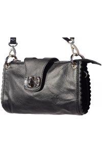 Τσαντακι Ωμου Δερματινο Be Exclusive Firenze Leather 8611 Μαύρο