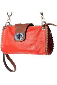 Τσαντακι Ωμου Δερματινο Be Exclusive Firenze Leather 8611 Κόκκινο/Καφε