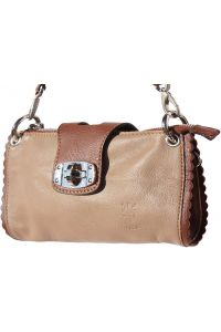 Τσαντακι Ωμου Δερματινο Be Exclusive Firenze Leather 8611 Καφε