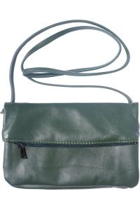Δερματινο Τσαντακι Φακελος Anita Firenze Leather 3601 Σκουρο Πρασινο