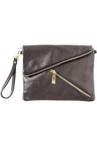 Δερμάτινο Τσαντακι Ωμου Firenze Leather 417 Μαύρο