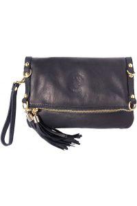 Τσαντάκι Clutch Δερμάτινο Giorgia Firenze Leather 9603 Μαύρο