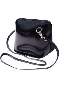 Δερματινο Τσαντακι Ωμου Dalida Firenze Leather 201 Μαύρο