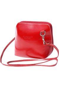 Δερματινο Τσαντακι Ωμου Dalida Firenze Leather 201 Κόκκινο