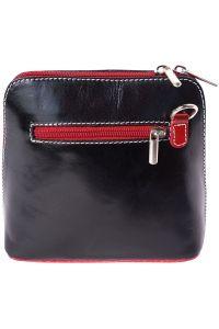 Δερματινο Τσαντακι Ωμου Dalida Firenze Leather 201 Μαύρο/Κόκκινο