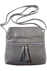 Δερματινο Τσαντακι Be Free Firenze Leather 6110 Σκουρο Γκρι