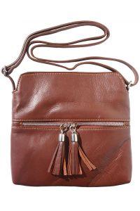 Δερματινο Τσαντακι Be Free Firenze Leather 6110 Καφε