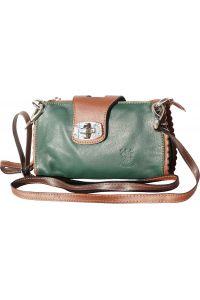 Τσαντακι Ωμου Δερματινο Be Exclusive Firenze Leather 8611 Σκουρο Πρασινο/Καφε