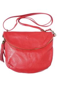 Δερματινο Γυναικειο Τσαντακι Rachele Firenze Leather 6120 Κόκκινο