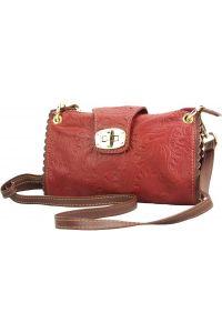 Τσαντακι Clutch Δερματινο Be Exclusive Firenze Leather 8611S Κόκκινο/Καφε