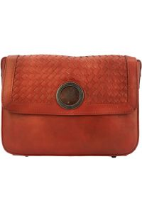 Δερματινο Γυναικειο Τσαντακι Ωμου Firenze Leather 68097 Κόκκινο