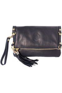 Δερμάτινο Τσαντακι Clutch Giorgia Firenze Leather 9606 Μαύρο