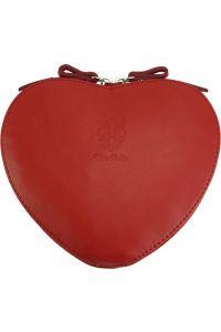 Δερματινο Τσαντακι Cuore Firenze Leather 403 Κόκκινο
