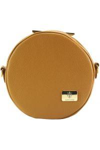 Δερματινο Τσαντακι Lucrezia Firenze Leather 9125 Μπεζ