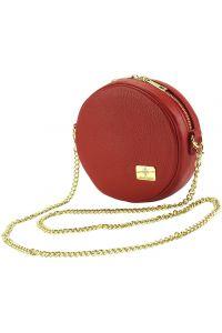 Δερματινο Τσαντακι Lucrezia Firenze Leather 9125 Κόκκινο
