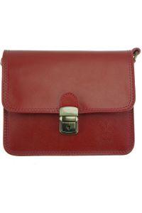 Δερματινο Τσαντακι Diana Firenze Leather 220 Σκουρο Κόκκινο