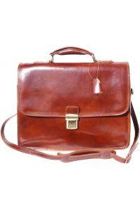 Δερμάτινος Χαρτοφύλακας Για Laptop Firenze Leather 7615 Καφε