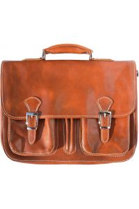 Δερμάτινος Χαρτοφύλακας 2 Θέσεων Firenze Leather 7611 Μπεζ