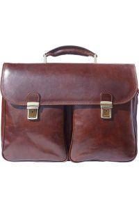 Δερματινος Χαρτοφυλακας Andrea Firenze Leather 7626 Σκουρο Καφε